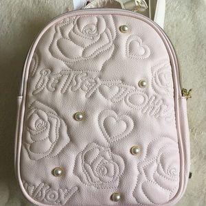 Betsey Johnson NWT Convertible Backpack Bag Blush